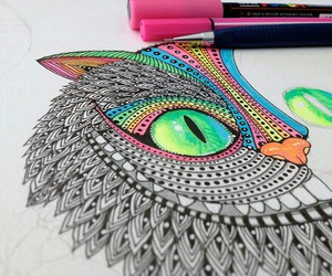 cat, drawing, and art image
