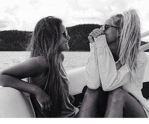 black and white, girls, and cute image