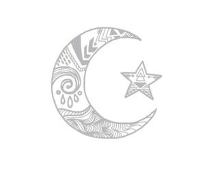 overlay, stars, and moon image