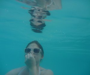reflection, summer, and underwater image