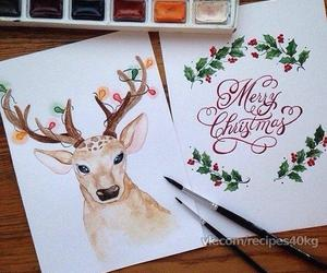 Brushes, deer, and card image