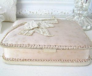 box, lace, and pastel image