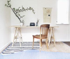 chair, home office, and office image