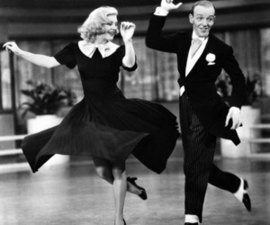 dance, fred astaire, and black and white image