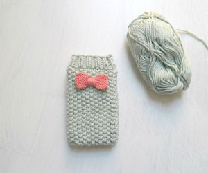 bow, cell phone, and etsy image