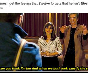 doctor who, jenna coleman, and peter capaldi image