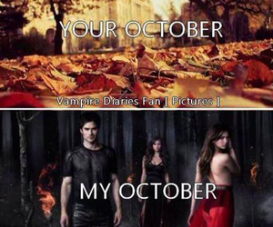 october, the vampire diaries, and damon image