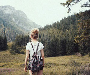 girl, travel, and nature image