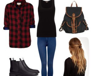 backpack, boots, and fashion image