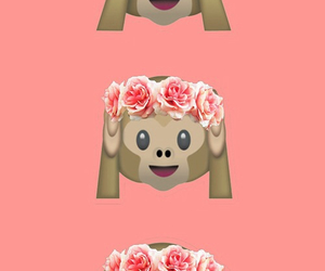 background, monkey, and floral image