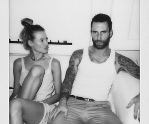 Behati Prinsloo, maroon five, and adam levine image