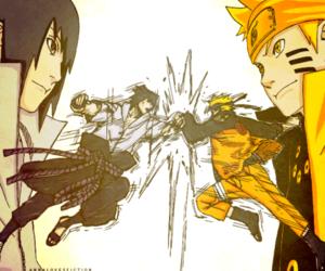 naruto, manga, and sasuke image