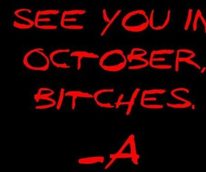 a, october, and pll image
