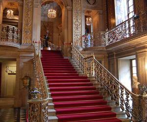 luxury, mansion, and stairs image