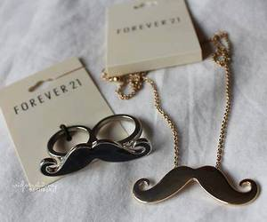 mustache, forever 21, and ring image