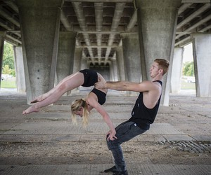 balance, gymnastics, and flexible image