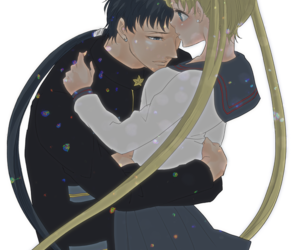 sailor moon, usagi tsukino, and kou seiya image