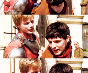 boys, bradley james, and colin morgan image
