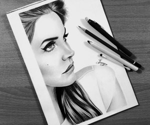 draw, drawing, and lana del rey image