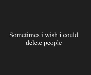 quote, delete, and people image