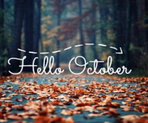 Halloween, hello, and leaves image