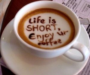 coffee, life, and enjoy image