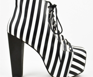 shoes, heels, and stripes image