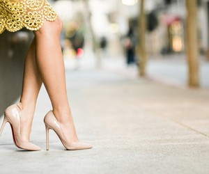 fashion, shoes, and Nude image