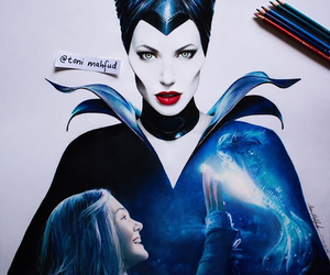 maleficent, Angelina Jolie, and art image