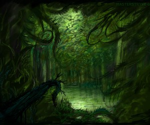 forest, green, and wallpaper image