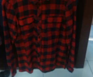 checked shirt, clothes, and grunge image