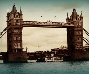 bridge, london, and tower bridge image