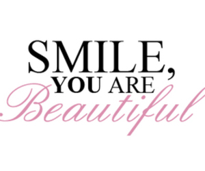 smile, beautiful, and pink image