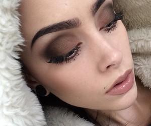makeup, girl, and beautiful image
