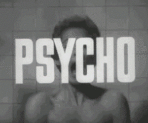 Psycho, black and white, and scream image