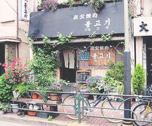 japan, bicycle, and flowers image