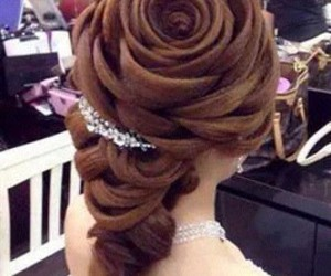 hair and rose image