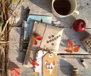 apple, autumn, and coffee image