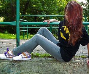 batgirl, batman, and girl image
