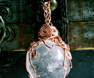 amulet, celtic, and gem image