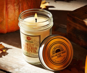 candle, fall, and autumn image