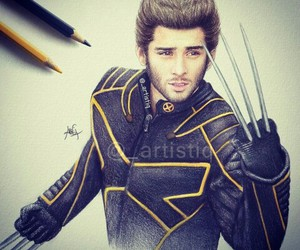 zayn malik, one direction, and wolverine image