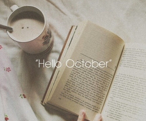 october, book, and hello image
