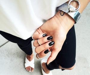 bangles, black, and fashion image
