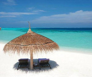 beach, holiday, and relax image