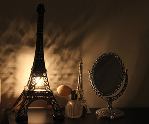 eiffel tower, lamp, and light image