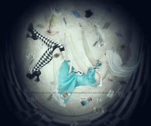 alice, falling, and chess image