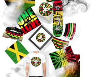 lion, Polyvore, and rasta image
