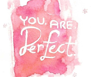 perfect, quote, and pink image
