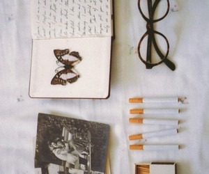vintage, book, and cigarette image